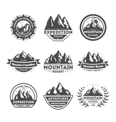 Mountain explorer vintage isolated label set vector