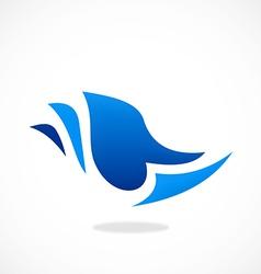 Paper abstract logo vector
