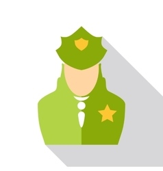 Police officer icon flat style vector