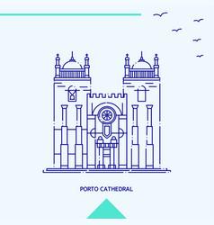 Porto cathedral skyline vector