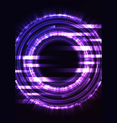 purple circle digital abstract pixel background vector image