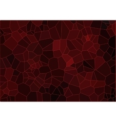 Red mosaic composition vector image