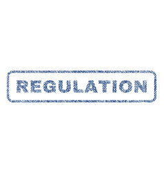 Regulation textile stamp vector