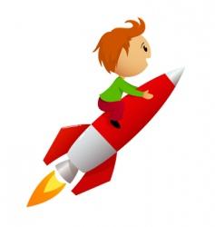 Rocket ride vector