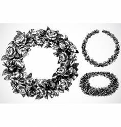 Rose wreaths vector