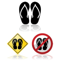 Sandals signs vector image vector image