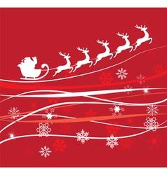 Santa red sky vector