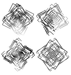 Set of random intersecting squares artistic vector
