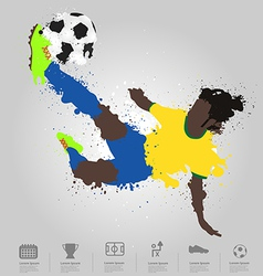 Soccer player kicks the ball vector