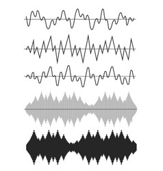 sound wave icon set vector image