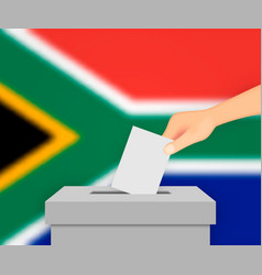South africa election banner background vector