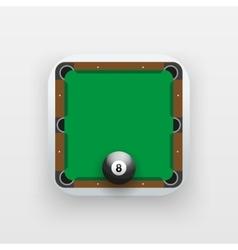Square icon of billiard sport vector image