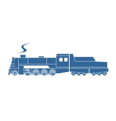 Steam locomotive with tender vector image