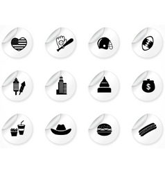 stickers with icons vector image