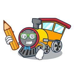 Student train character cartoon style vector