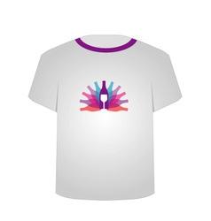 T Shirt Template- wine vector