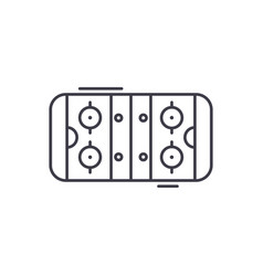 table soccer line icon concept table soccer vector image