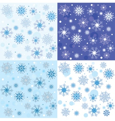 texture of the snowflakes vector image