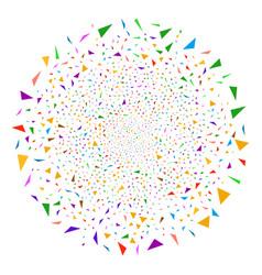 triangular fragments fireworks sphere vector image