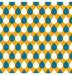 White Blue Orange Water Drops Background vector