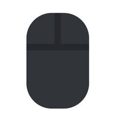 wireless computer mouse in black flat isolated vector image