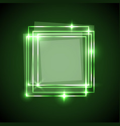 abstract background with green squares banner vector image
