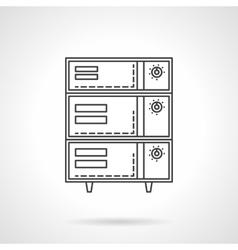 Bakery oven with switches flat line icon vector image vector image