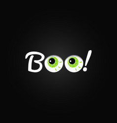 boo halloween lettering with eyes design vector image