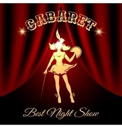 Cabaret Colorful Emblem vector image
