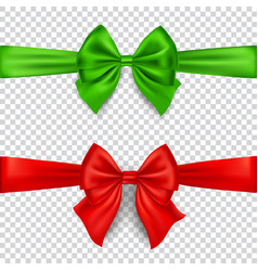 colorful bows isolated on transparent background vector image vector image