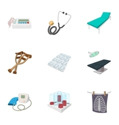 Doctoral icons set cartoon style vector image vector image
