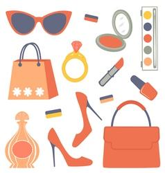 Fashionable set vector image vector image