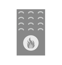 gas furnace vector image