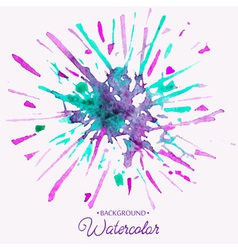 Hand drawn watercolor background firework stain vector image
