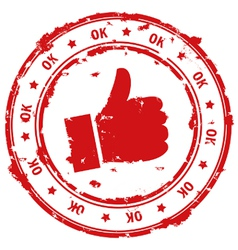 Ok hand vector image vector image