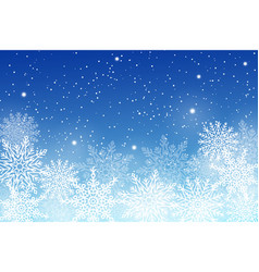set of different snowflakes on vector image