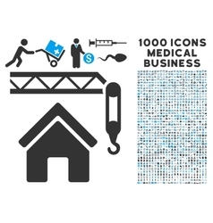 Home Construction Icon with 1000 Medical Business vector image vector image