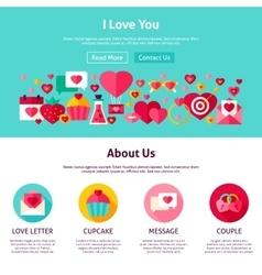 I Love You Website Design vector image