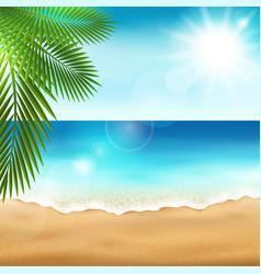 Sea beach vector image vector image