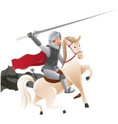 2288 Knight with lance on horseback vector image
