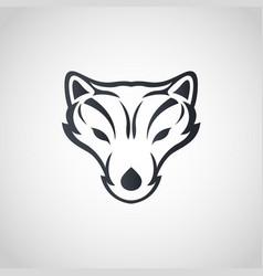 arctic fox logo icon design vector image vector image