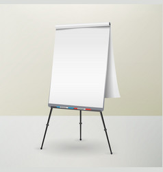 flip chart isolated blank sheet of paper vector image