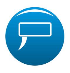 speech bubble icon blue vector image