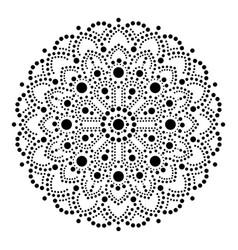 aboriginal dot painting mandala australian vector image vector image