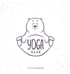 cute yoga bear vector image vector image