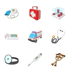 Diagnosis icons set cartoon style vector image vector image