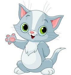 kitten showing vector image vector image