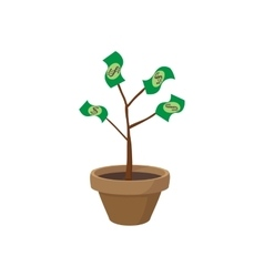 Money tree icon cartoon style vector image vector image