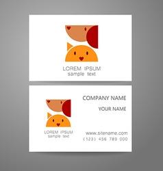 veterinary medicine logo template vector image vector image