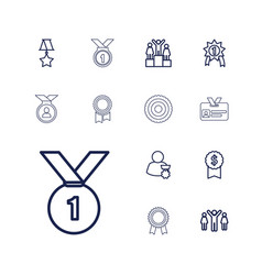 13 medal icons vector
